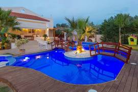 Three exquisite detached villas with swimming pool and full facilities at 20 km from Rethymno Crete