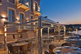 Luxurious boutique hotel with private beach in Rethymno town Crete